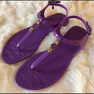 Authentic Coach Piccadilly Purple Sandals